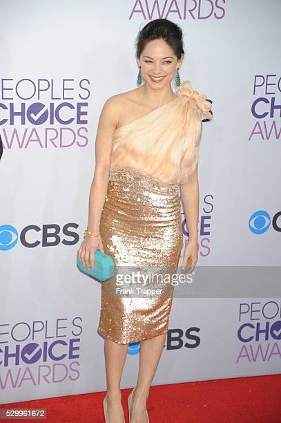 Actress Kristin Kreuk arrives at the People's Choice Awards 2013 held at the Nokia Theater L A Live