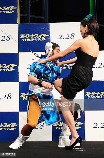 Actress Kristin Kreuk attends 'Street Fighter The Legend of ChunLi ' Japan Premiere at Akihabara UDX on February 12 2009 in Tokyo Japan The film will...
