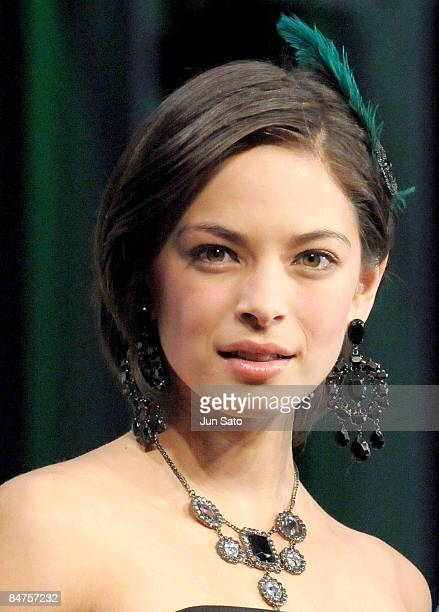 Actress Kristin Kreuk attends Street Fighter The Legend of ChunLi Japan Premiere at Akihabara UDX on February 12 2009 in Tokyo Japan The film will...