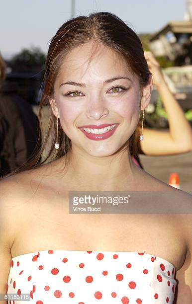 Actress Kristin Kreuk attends The 2004 Teen Choice Awards held on August 8 2004 at Universal Amphitheater in Universal City California