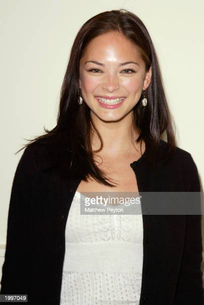 Actress Kristin Kreuk from the television drama 'Smallville' attends the WB Television Network Upfront AllStar Party at The Lighthouse May 13 2003 in...