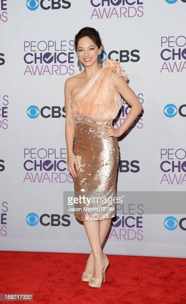 Actress Kristin Kreuk poses in the press room at the 39th Annual People's Choice Awards at Nokia Theatre LA Live on January 9 2013 in Los Angeles...