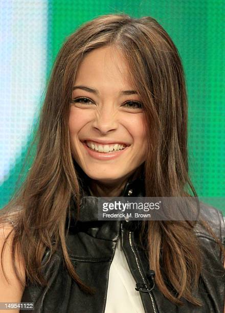 Actress Kristin Kreuk speaks at the 'Beauty And The Beast' discussion panel during the CW portion of the 2012 Summer Television Critics Association...