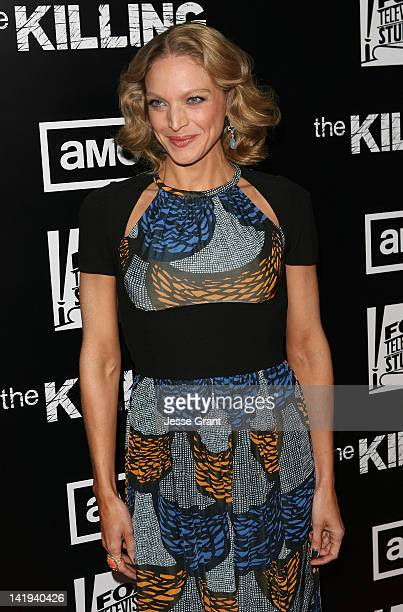 Actress Kristin Lehman arrives at AMC's 'The Killing' Season 2 Los Angeles Premiere at ArcLight Cinemas on March 26 2012 in Hollywood California