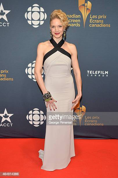 Actress Kristin Lehman arrives at the 2015 Canadian Screen Awards at the Four Seasons Centre for the Performing Arts on March 1 2015 in Toronto Canada