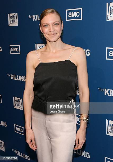 Actress Kristin Lehman attends AMC's The Killing Premiere at Harmony Gold Theatre on March 21 2011 in Los Angeles California