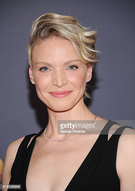 Actress Kristin Lehman of Motive arrives at the 2016 Canadian Screen Awards at the Sony Centre for the Performing Arts on March 13 2016 in Toronto...