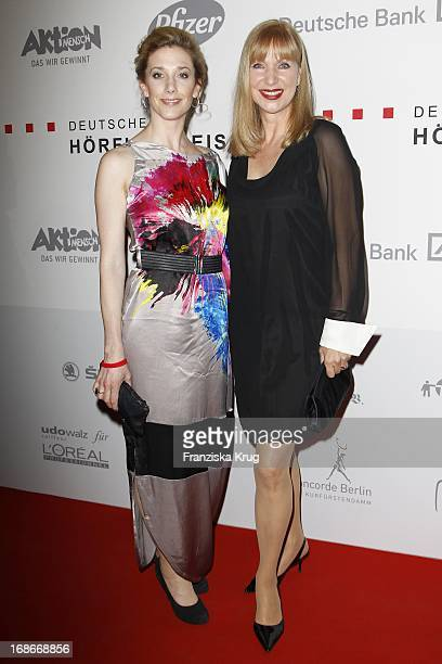 Actress Kristin Meyer and Sabine Kaack at the Ceremony Of The 10th German hearing impaired film at the atrium of the Deutsche Bank in Berlin