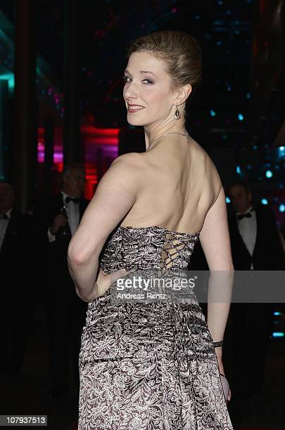 Actress Kristin Meyer arrives at the Berlin Press Ball 2011 at the Ullstein hall on January 8, 2011 in Berlin, Germany.