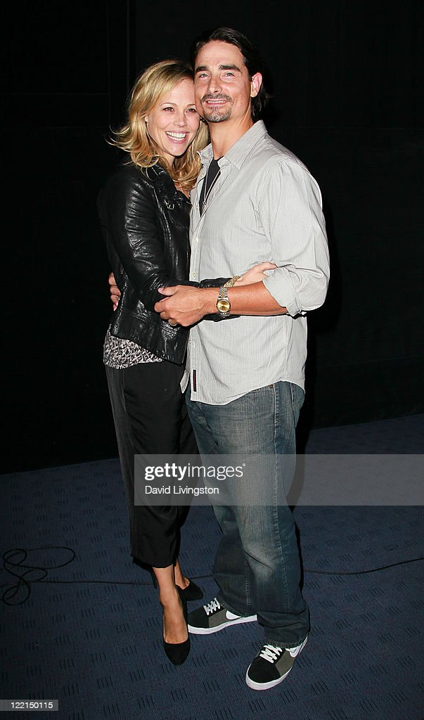 Actress Kristin Richardson (L) and husband singer/actor Kevin Richardson attend the Los Angeles premiere of 'The Casserole Club' presented by the American Cinematheque at the Egyptian Theatre on August 25, 2011 in Hollywood, California.