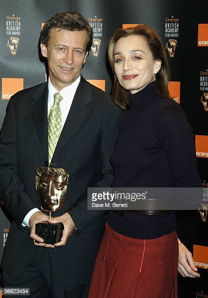 Actress Kristin Scott Thomas and British Academy Chairman Duncan Kenworthy pose for a picture as they announce the nominations and details for The...