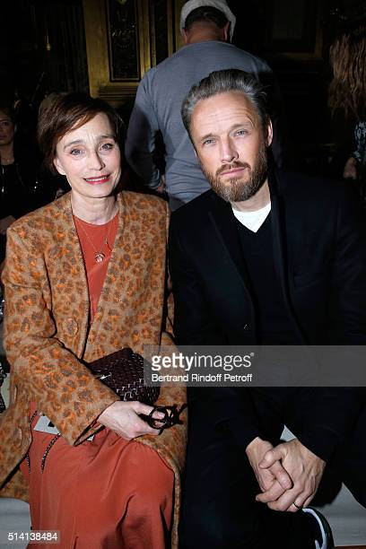 Actress Kristin Scott Thomas and Husband of Stella Alasdhair Willis attend the Stella McCartney show as part of the Paris Fashion Week Womenswear...