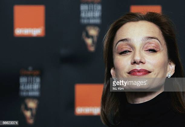 Actress Kristin Scott Thomas announces the nominations and details for The Orange British Academy Film Awards on January 19 2006 in London England...