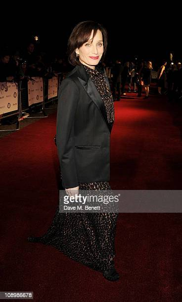 Actress Kristin Scott Thomas arrives at the 31st London Film Critics' Circle Awards at BFI Southbank on February 10 2011 in London England