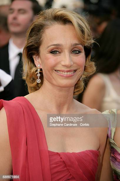 Actress Kristin Scott Thomas at the premiere of Chromophobia during the 58th Cannes Film Festival