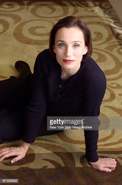 Actress Kristin Scott Thomas at the Regency Hotel on Park Ave She stars in the upcoming movie Gosford Park
