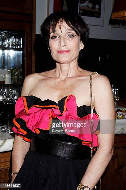 Actress Kristin Scott Thomas attends an after party following press night of Ian Rickson's new production of Harold Pinter's 'Betrayal' at the Comedy...