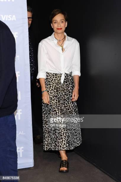 Actress Kristin Scott Thomas attends 'Darkest Hour' press conference during 2017 Toronto International Film Festival at TIFF Bell Lightbox on...