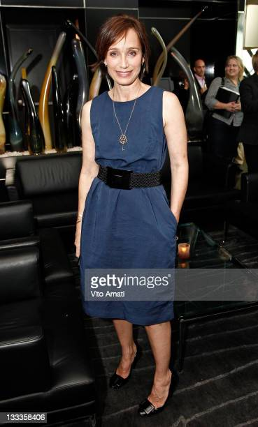 Actress Kristin Scott Thomas attends NY TIMES Party at the C5 Resturant at The Royal Ontario Museum during the 2009 Toronto International Film...
