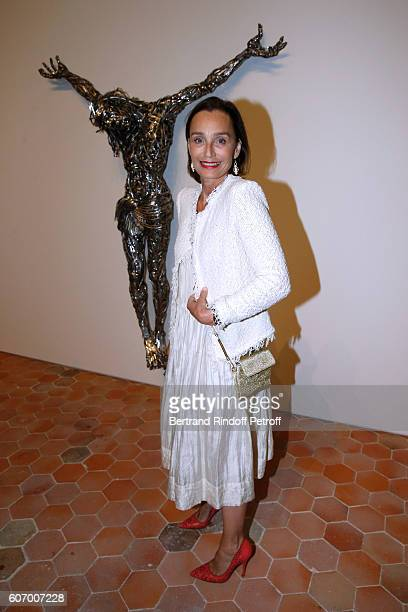 Actress Kristin Scott Thomas attends the 4O Rue de Sevres Preview at the Head Offices of Both Kering and Balenciaga building The site was the former...