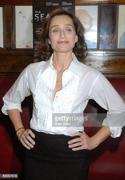 Actress Kristin Scott Thomas attends the after party for the opening night of The Seagull on Broadway at Sardi's on October 2 2008 in New York City