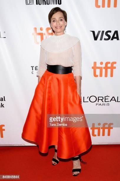 Actress Kristin Scott Thomas attends the 'Darkest Hour' premiere during the 2017 Toronto International Film Festival at Roy Thomson Hall on September...