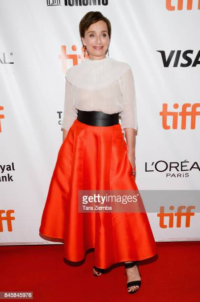 Actress Kristin Scott Thomas attends the 'Darkest Hour' premiere during the 2017 Toronto International Film Festival at Roy Thomson Hall on September...
