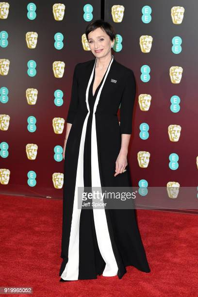 Actress Kristin Scott Thomas attends the EE British Academy Film Awards held at Royal Albert Hall on February 18 2018 in London England
