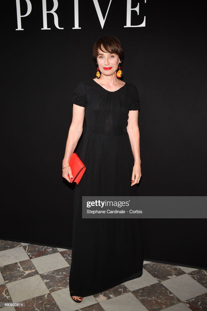 Actress Kristin Scott Thomas attends the Giorgio Armani Prive Haute Couture Fall/Winter 2018-2019 show as part of Haute Couture Paris Fashion Week on July 3, 2018 in Paris, France.