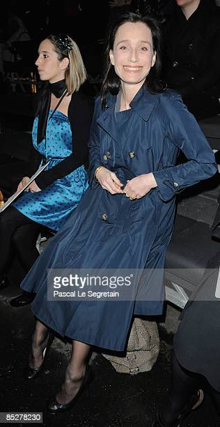 Actress Kristin Scott Thomas attends the Lanvin ReadytoWear A/W 2009 fashion show during Paris Fashion Week at Halle Freyssinet on March 6 2009 in...