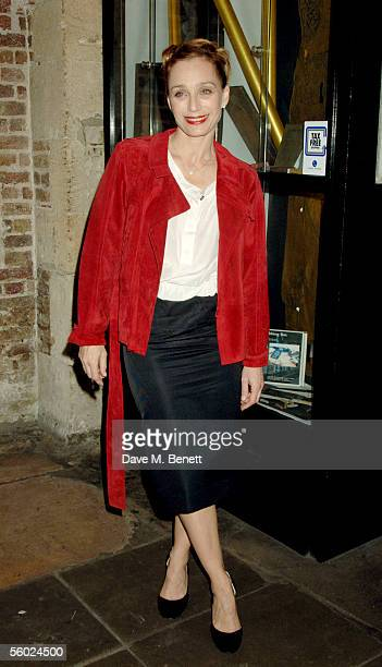 Actress Kristin Scott Thomas attends the party for the first night of As You Desire Me held at The Crypt in St Martins Le Field on October 27 2005 in...
