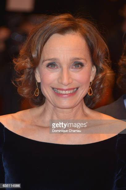 Actress Kristin Scott Thomas attends the 'The Party' premiere during the 67th Berlinale International Film Festival Berlin at Berlinale Palace on...