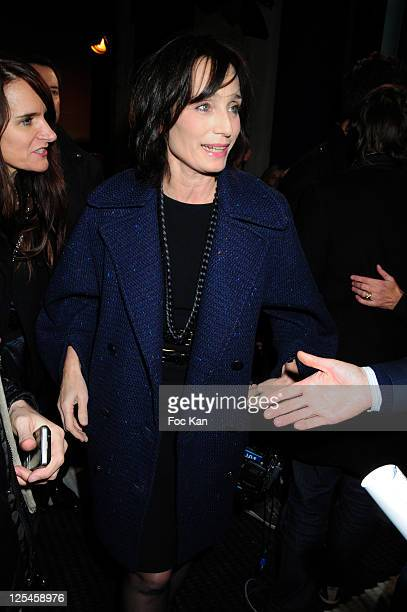 Actress Kristin Scott Thomas attends the Tommy Hilfiger ChampsElysees Flagship Opening Red Carpet on November 17 2010 in Paris France