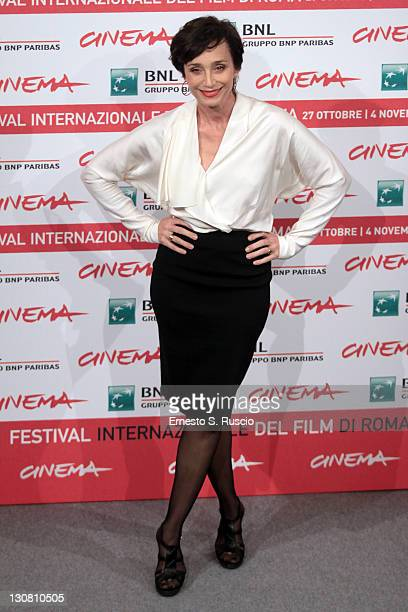 Actress Kristin Scott Thomas attends the Woman In The Fifth Photocall during the 6th International Rome Film Festival on October 30 2011 in Rome Italy