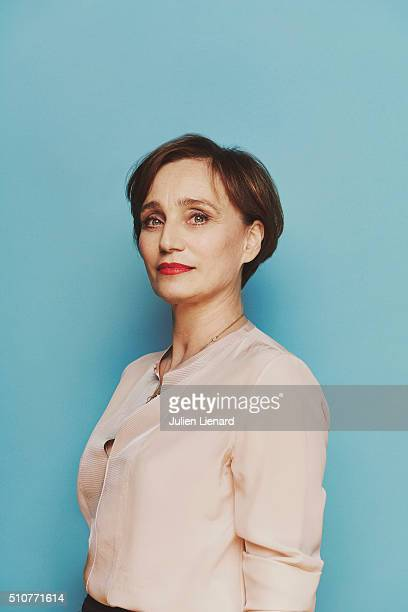 Actress Kristin Scott Thomas is photographed for for Self Assignment on February 2 2016 in Paris France