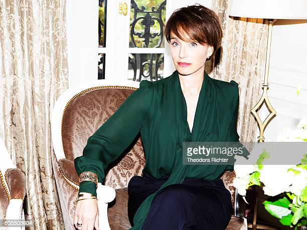 Actress Kristin Scott Thomas is photographed for L'Express Style on June 7 2015 in Paris France
