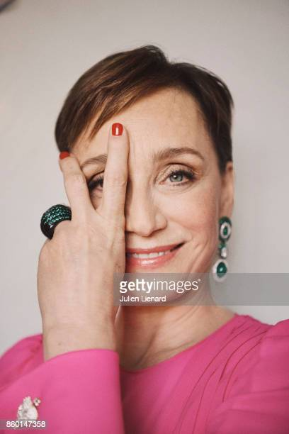 Actress Kristin Scott Thomas is photographed for Self Assignment on May 22 2017 in Cannes France