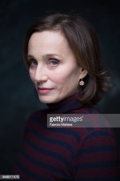 Actress Kristin Scott Thomas is photographed for The Hollywood Reporter on February 13 2017 in Berlin Germany