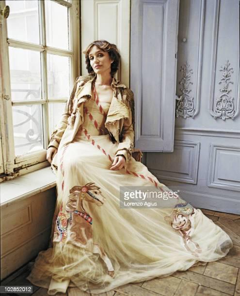 Actress Kristin Scott Thomas poses for a photoshoot on February 28 2005 in Paris