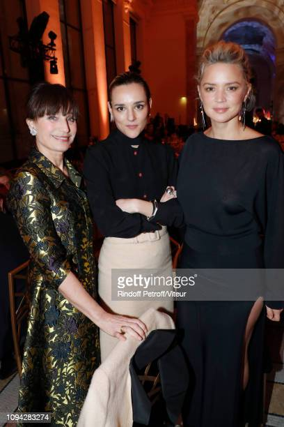 Actress Kristin Scott Thomas Revelation for 'Un amour impossible' Jehnny Beth and her sponsor Virginie Efira attend the 'Cesar Revelations 2019' at...