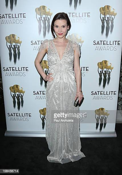 Actress Kristina Anapau attends the International Press Academy's 17th Annual Satellite Awards at InterContinental Hotel on December 16 2012 in...