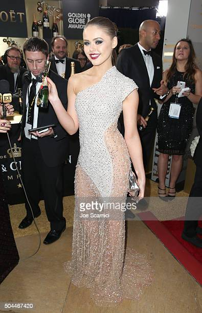Actress Kristina Bazan attends the 73rd Annual Golden Globe Awards held at the Beverly Hilton Hotel on January 10 2016 in Beverly Hills California