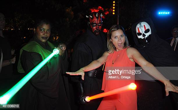 Actress Kristina Klebe and members of Dark Side Riders attend the After Party for the 40th Annual Saturn Awards held at on June 26 2014 in Burbank...