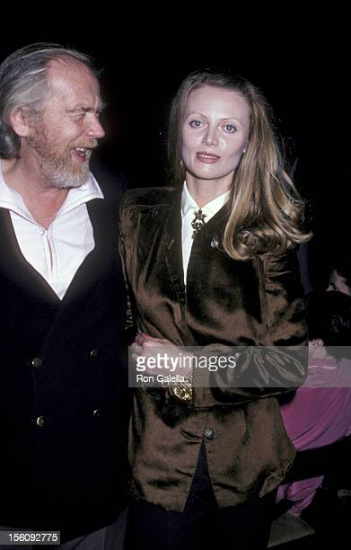 Actress Kristina Wayborn and guest attend the wrap party for 'Cannery Row' on March 21 1981 at MGM Studios in Culver City California
