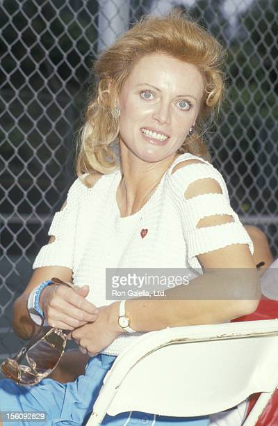 Actress Kristina Wayborn attends Second Annual Joan Rivers Celebrity Tennis Classic Benefiting Cystic Fibrosis on September 13 1987 at the Mountain...