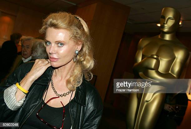 Actress Kristina Wayborn attends the Academy of Motion Picture Arts and Sciences Centennial tribute to Oscarwinning actress Greta Garbo on April 7...