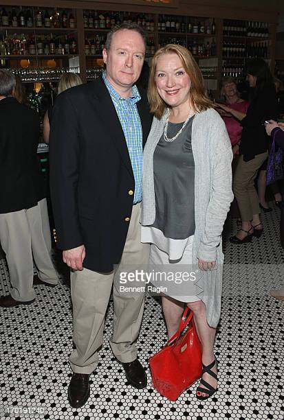Actress Kristine Nielsen and Brent Langdon attend the 2013 Tony Awards Eve Cocktail Party at Luggo Caffe on June 8 2013 in New York City