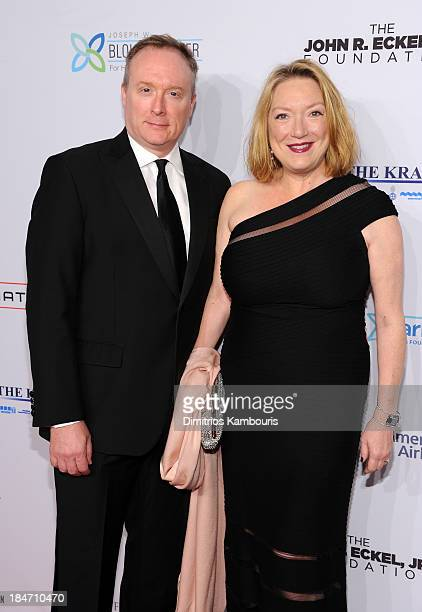 Actress Kristine Nielsen and Brent Langdon attend the Elton John AIDS Foundation's 12th Annual An Enduring Vision Benefit at Cipriani Wall Street on...