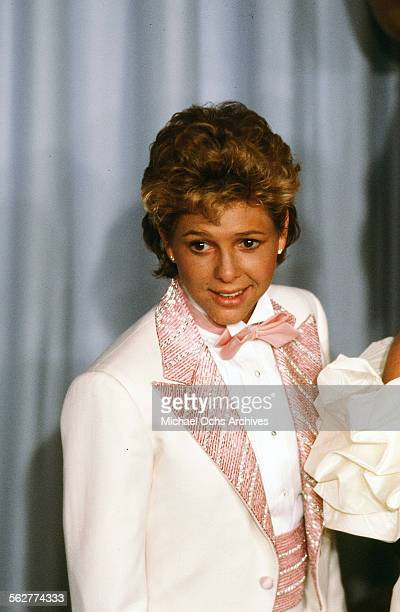 Actress Kristy McNichol poses backstage during the 55th Academy Awards at Dorothy Chandler Pavilion Los Angeles California