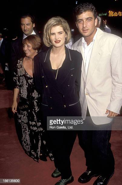 Actress Kristy Swanson and date attend the 'Buffy, the Vampire Slayer' Westwood Premiere on July 29, 1992 at Mann Village Theatre in Westwood,...